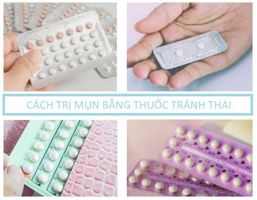Cách trị mụn bằng thuốc tránh thai