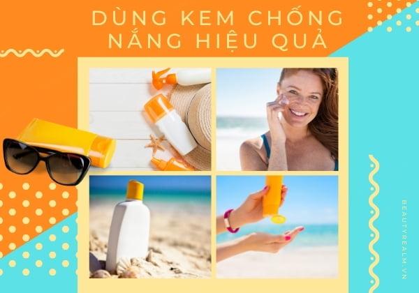 Dùng kem chống nắng hiệu quả