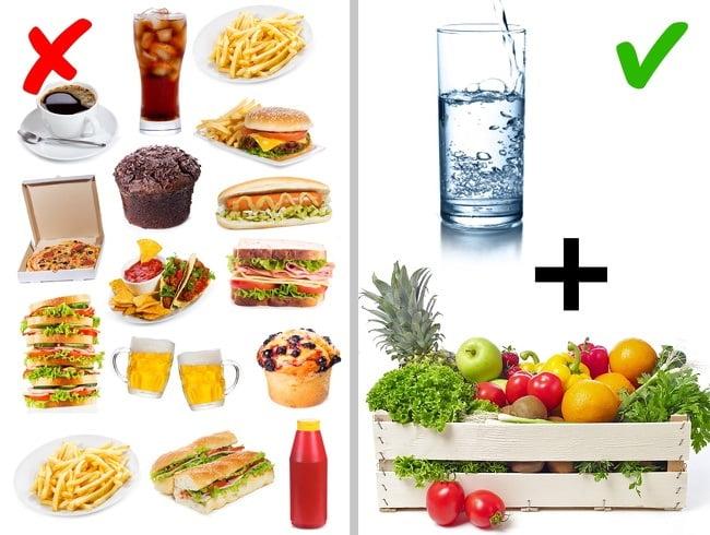 Nguyên nhân gây mụn cám do ăn uống sai cách