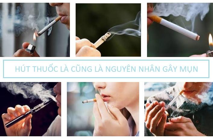 Nguyên nhân gây mụn do hút thuốc lá