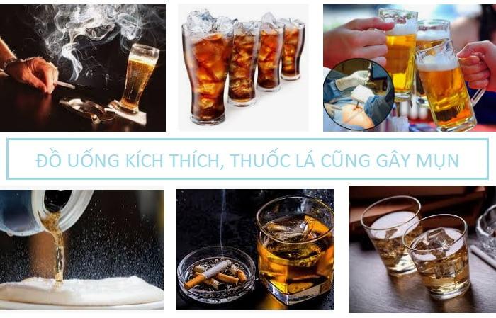 Nguyên nhân gây mụn do đồ uống kích thích