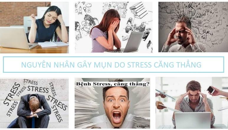 Nguyên nhân gây mụn do stress căng thẳng