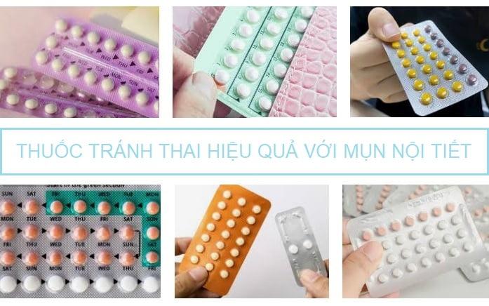 Thuốc tránh thai hiệu quả với nguyên nhân gây mụn là nội tiết