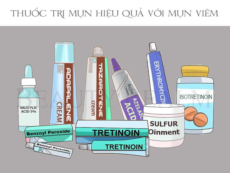 Thuốc trị mụn hiệu quả với nguyên nhân gây mụn là vi khuẩn