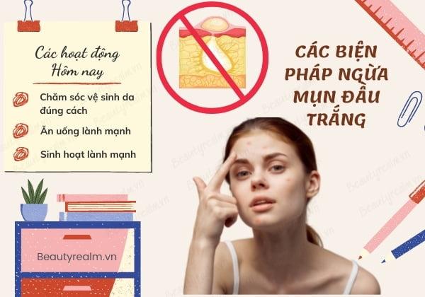 Các biện pháp ngăn ngừa mụn đầu trắng