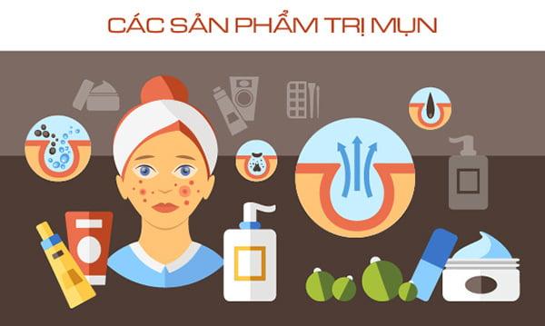 Các sản phẩm trị mụn cho da mụn