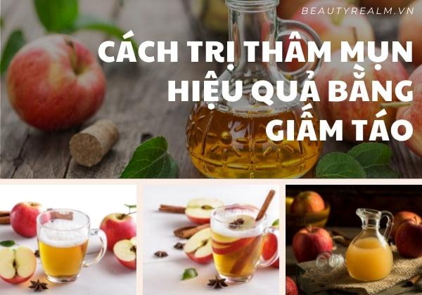 Cách trị thâm mụn bằng giấm táo