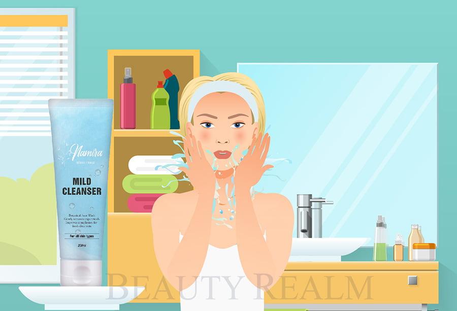 Sản phẩm trị mụn sữa rửa mặt cho da mụn