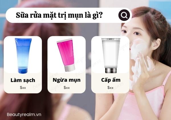 sữa rửa mặt trị mụn là gì?