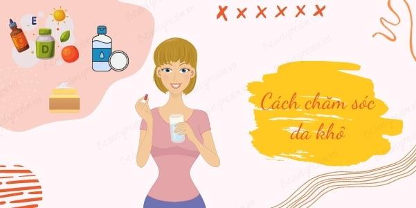 Cách chăm sóc da khô