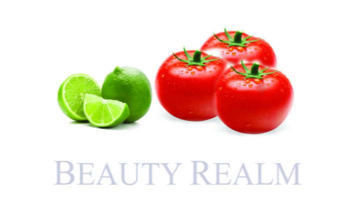 cách trị mụn bằng chanh kết hợp với cà chua