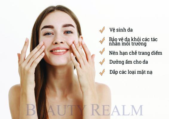 Chăm sóc da khi bị mụn ở má