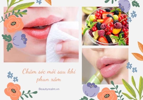 Chăm sóc môi sau khi phun xăm
