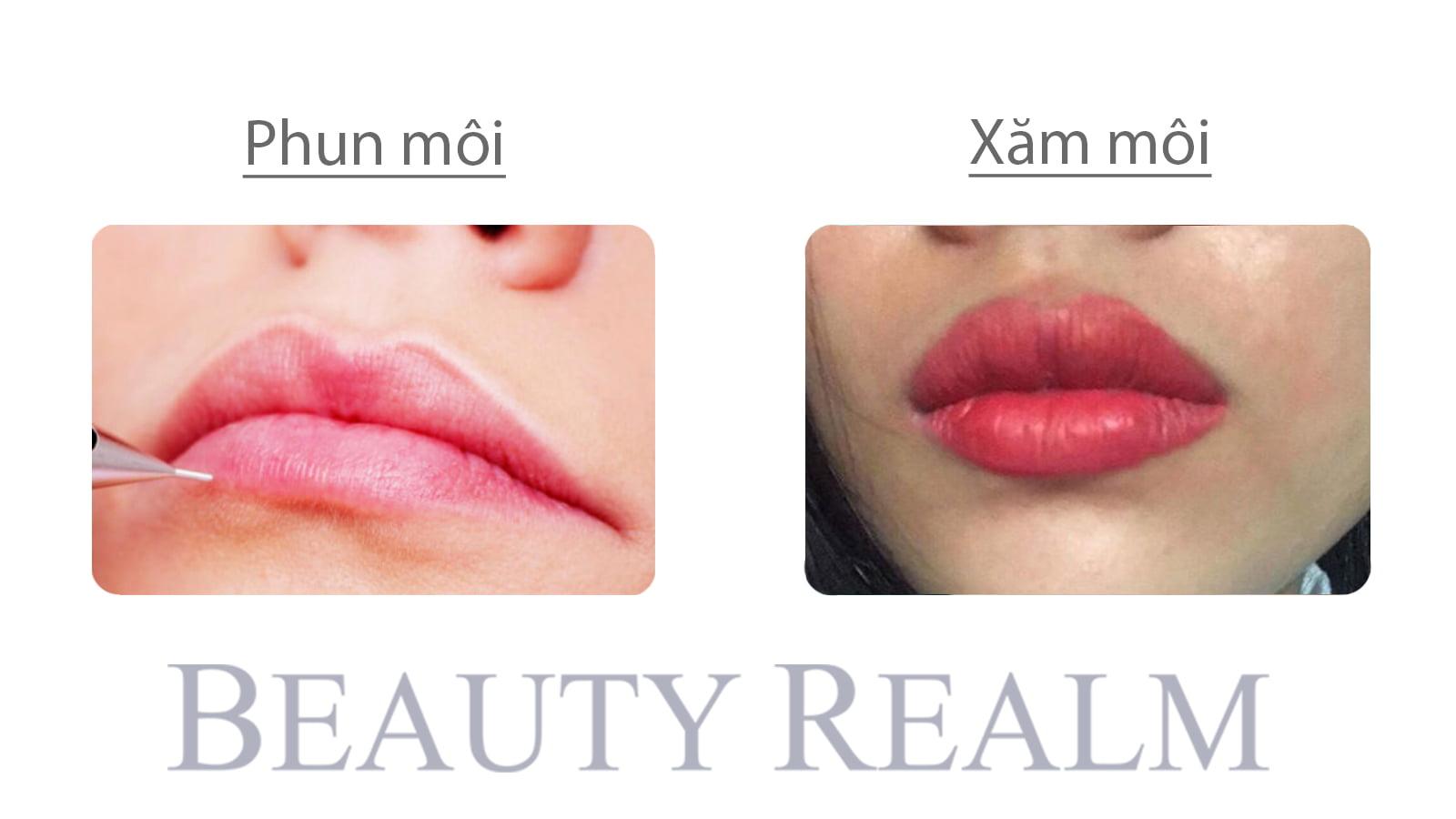 Phun môi và xăm môi khác nhau ra sao?