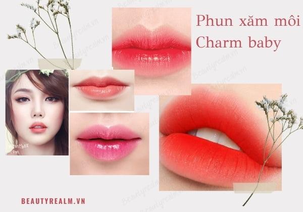 Phun xăm môi Charm Baby