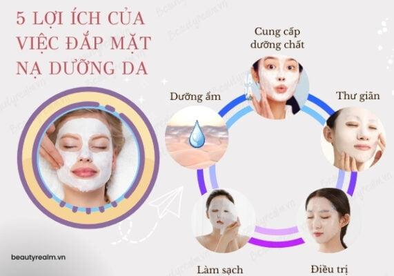 5 lợi ích của việc đắp mặt nạ